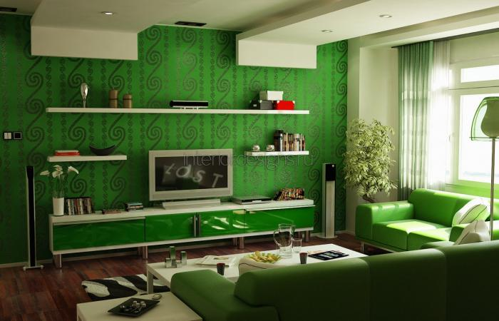 Зеленый интерьер фото