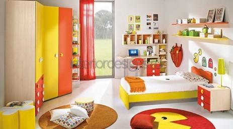 яркое оформление комнаты подростка
