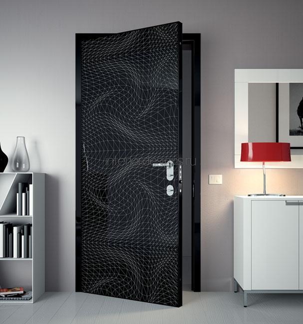стильные шикарные металлические двери
