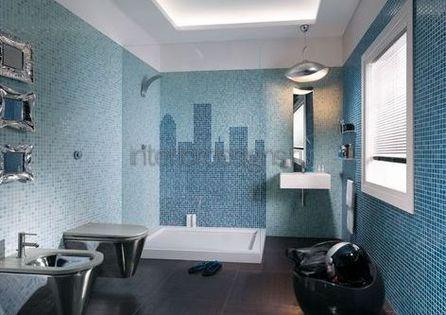 мозаика для интерьера ванной комнаты