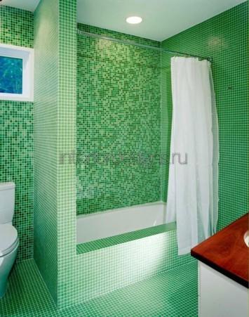 проект интерьера ванной с мозаикой