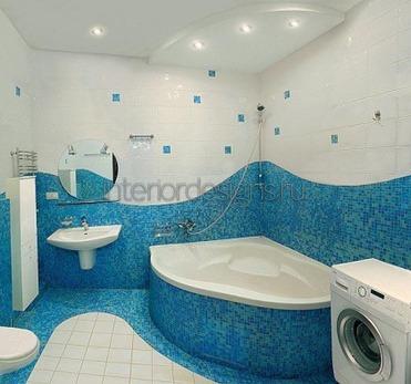 отделка интерьера ванной мозаикой