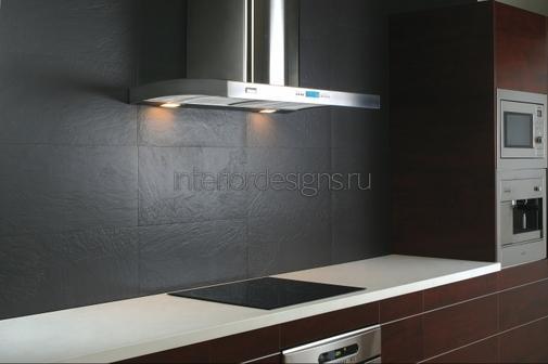 вытяжная конструкция в дизайне кухни