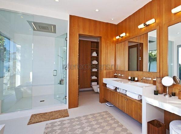 деревянная отделка ванной
