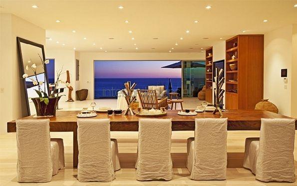 обеденная зона в гостиной