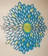 украшение стен бумажными цветами