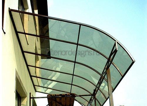 крыльцо с навесом из поликарбоната