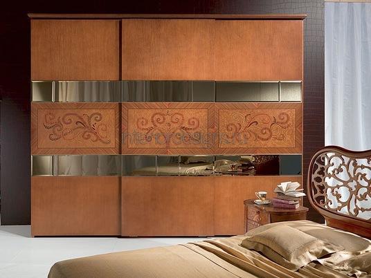 интерьер роскошной спальни со шкафом