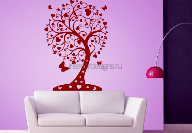 наклейка на стену  - дерево любви