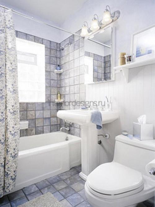 ванная оформленная в белом цвете