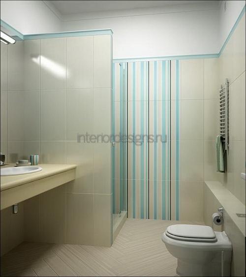 современный интерьер ванной комнаты в стиле минимализм
