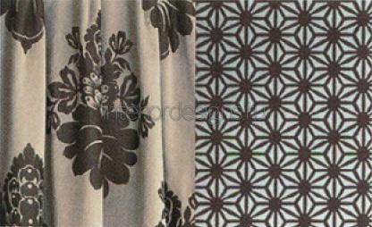 ткань IVONNE и покрытие GRANDIS - красивый декор из одной колекции