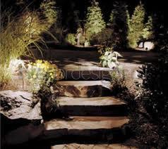 Светильники на каменных ступеньках