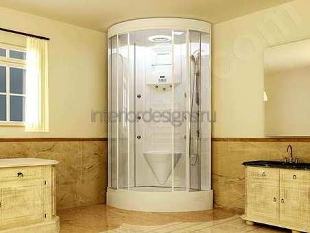 душевая кабина в дизайне ванной