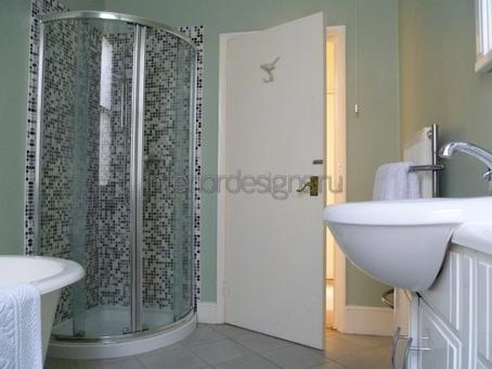 проект дизайна ванной с душевой кабиной