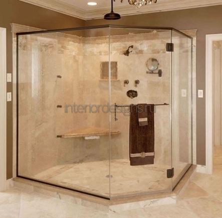 размещение душевой кабины в ванной