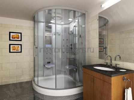 проект ванной с душевой кабиной