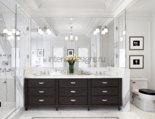 черно-белая гамма в ванной