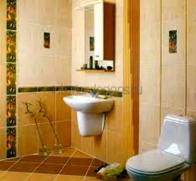 оформление дизайна маленькой ванной комнаты