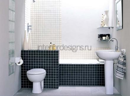 проект-дизайн маленькой ванной