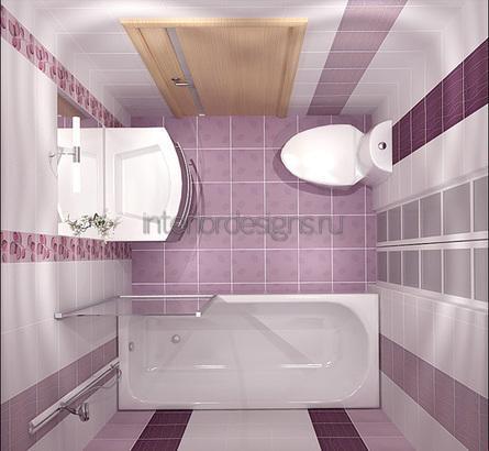 проект-дизайн маленькой ванной комнаты