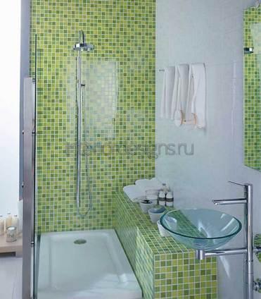 Дизайн ванны из мозаики
