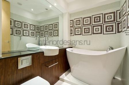 проект-дизайн малогабаритной ванной комнаты