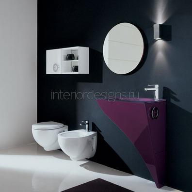 дизайн малогабаритной ванной в стиле модерн