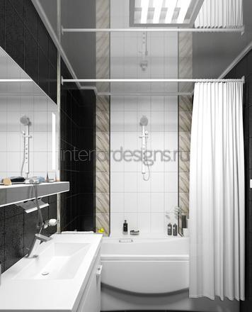 обустройство интерьера ванной комнаты маленького размера