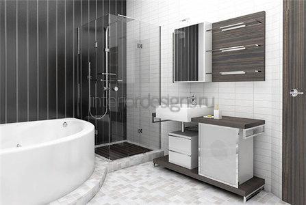 обустройство интерьера маленькой ванной