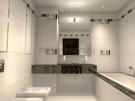 создание интерьера для маленькой ванной