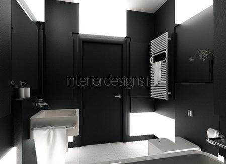 проект интерьера маленькой ванной комнаты