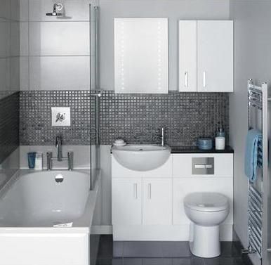 проект интерьера маленькой ванной