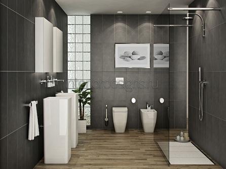 проектирование интерьера маленькой ванной
