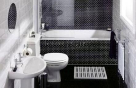 дизайн узкой ванной комнаты