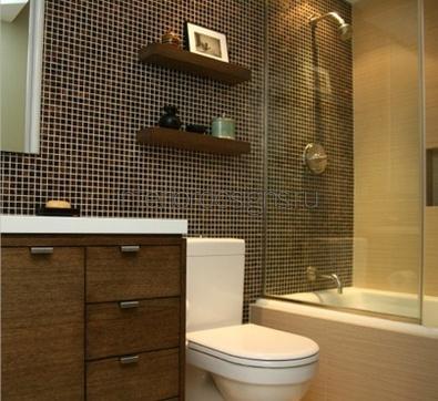 дизайн небольшой и узкой ванной