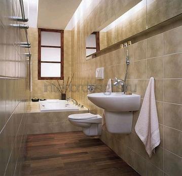 обустройство небольшой и узкой ванной