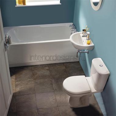 проект дизайна узкой ванной комнаты