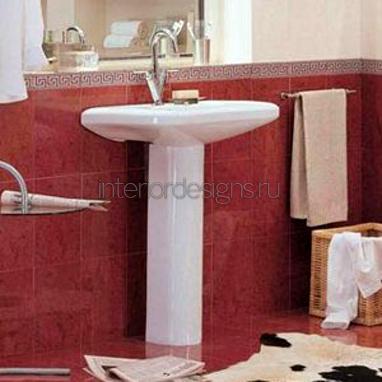 интерьер ванной комнаты небольшого размера