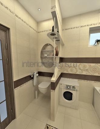 обустройство совмещенного дизайна ванной комнаты