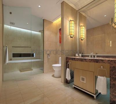 проект совмещенной ванной
