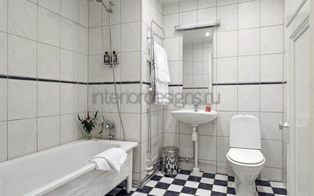 совмещенный дизайн ванной и туалета