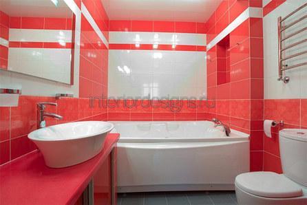 проект дизайна ванный с туалетом