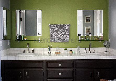 оформление дизайна ванной комнаты