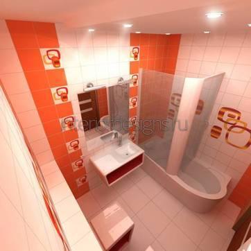 ванная комната 170х170