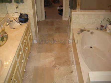 дизайн-проект ванной комнаты 170х170