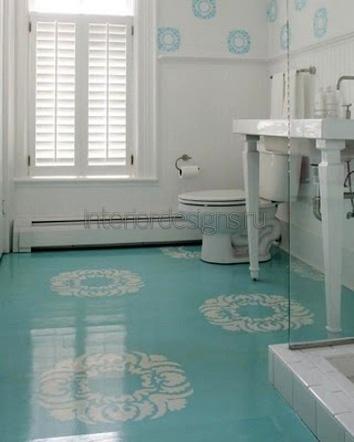 дизайн ванной размером 170х170