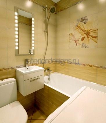 оформление ванной 150х135