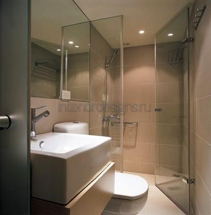 дизайн-проект ванной комнаты 150х135