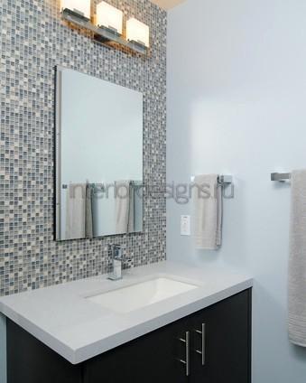дизайн ванной с мозаичной отделкой